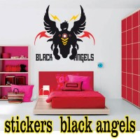 Stickers Gothique black Angels