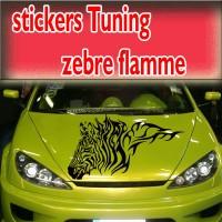 Stickers Tuning Zèbre Flamme  1