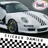 Stickers Tuning Damier Bande Viper  par 2