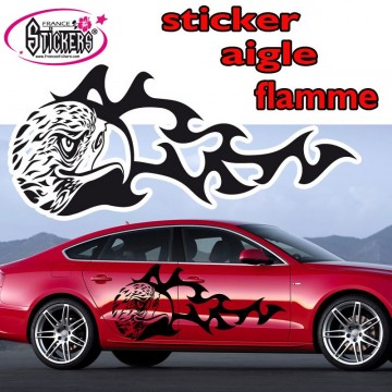 Stickers Tuning Aigle Flamme 4