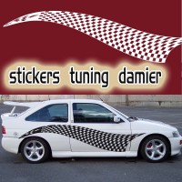 Stickers Tuning Damier STD7