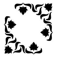 stickers Baroque angle par deux 2