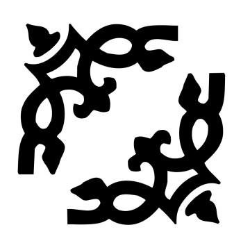 stickers Baroque angle par deux    5