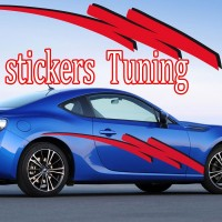 Stickers Tuning Tribal Color par 2 stt6