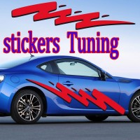 Stickers Tuning Tribal Color par 2 stt7