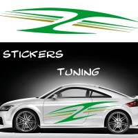 Stickers Tuning Tribal Color par 2 stt8