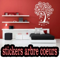 Stickers Arbre Cœurs 2