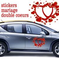 stickers double cœurs et petits cœurs