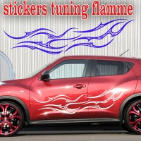 Stickers Tuning Flamme par 2  stf3