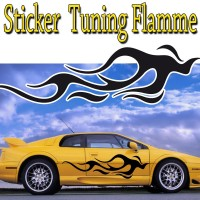 Stickers Tuning Flamme par 2  stf4