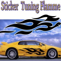 Stickers Tuning Flamme par 2 stf5