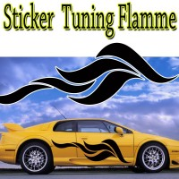 Stickers Tuning Flamme par 2  stf6