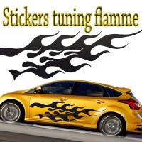 Stickers Tuning Flamme par 2 stf7