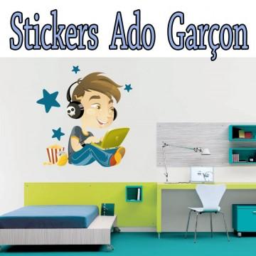 Stickers autocollant Musique Ado Garcon
