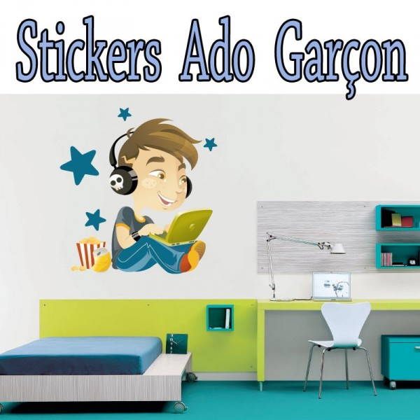 Stickers autocollant musique ado gar on pas cher france stickers - Stickers chambre garcon ...