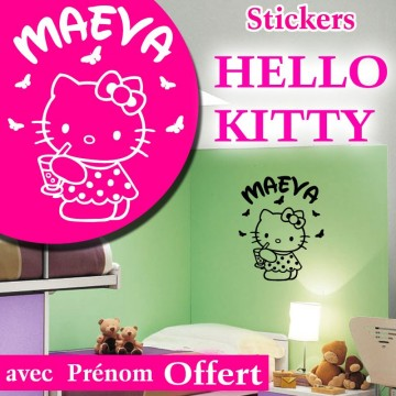 Stickers Hello Kitty Personnalisé