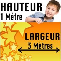 Banderole / Affiche Personnalisée - Papier 135 g/M2 - 3 Mètres