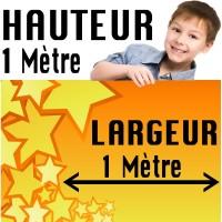 Banderole / Affiche Personnalisée - Papier 135 g/M2 - 1 Mètres