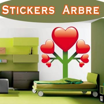 Stickers Autocollant Arbre coeurs a1