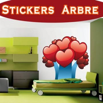 Stickers Autocollant Arbre coeurs a2