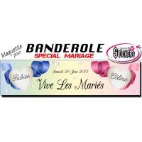 Maquette Pour Banderole Mariage Personnalisée (M0083FS2012)