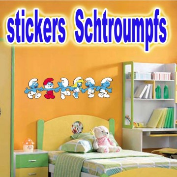 stickers Schtroumpfs 1