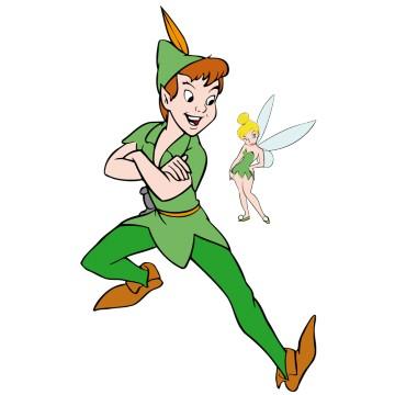 stickers Peter Pan et Fée Clochette