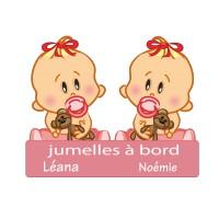 Stickers Jumelles à Bord