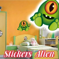 stickers Petit Martien 7