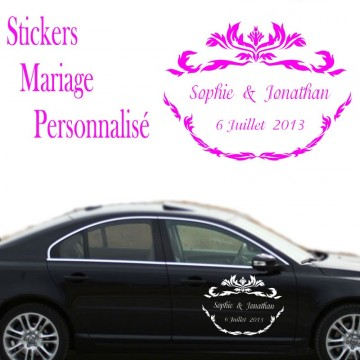 Stickers mariage texte personnalis france stickers - Sticker mural personnalise ...