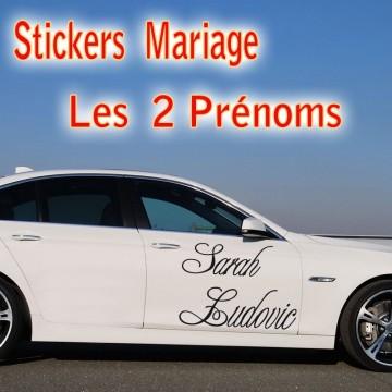 stickers Mariage Les 2 prénoms