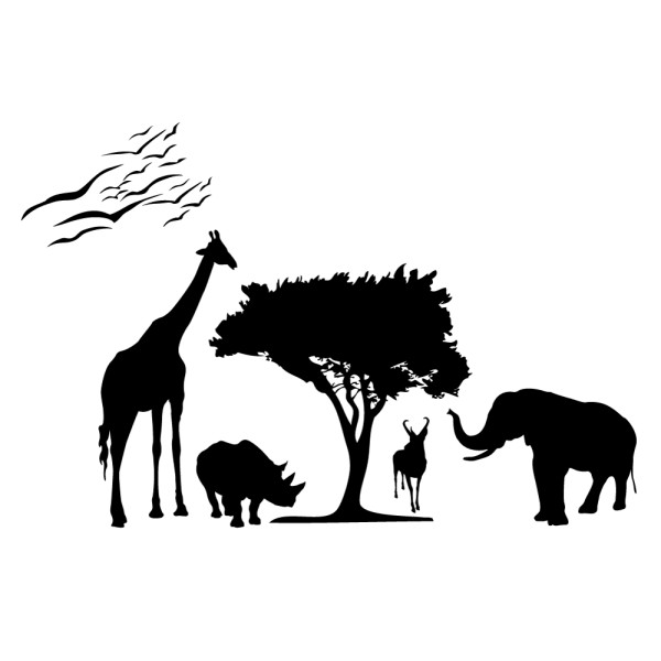 stickers animaux savane france stickers. Black Bedroom Furniture Sets. Home Design Ideas