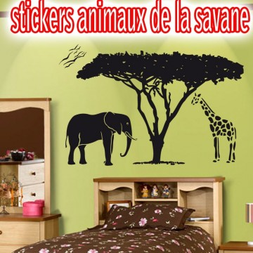 stickers animaux de la jungle pas cher france stickers. Black Bedroom Furniture Sets. Home Design Ideas