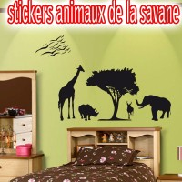 stickers Animaux de la jungle Silhouette