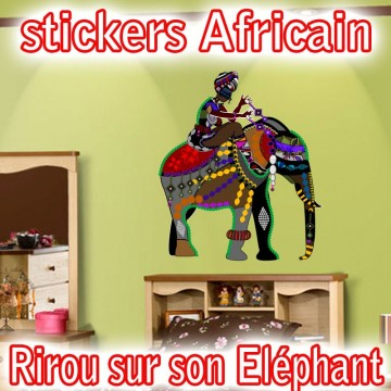 Stickers Personnage Africain 15