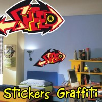 stickers Graffiti Poisson