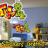 stickers Graffiti Personnage