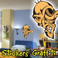 Stickers Graffiti Visage