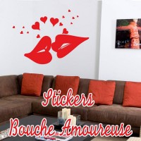 stickers Bouche Amoureuse