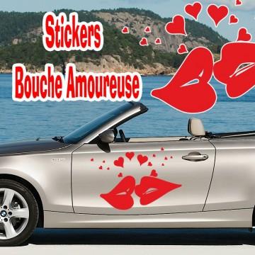 Stickers Mariage Bouche Amoureuse vendu à l'unité