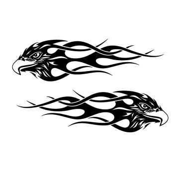 Stickers Aigle Flamme Tuning saft7