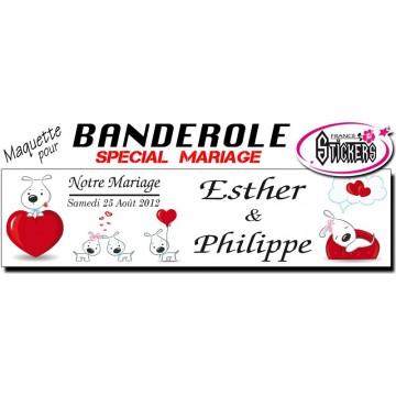 Banderole Mariage Personnalisée (M0012FS2012)