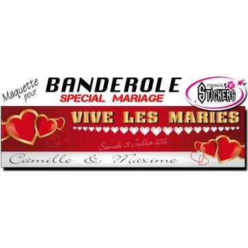 Banderole Mariage Personnalisée (M0013FS2012)