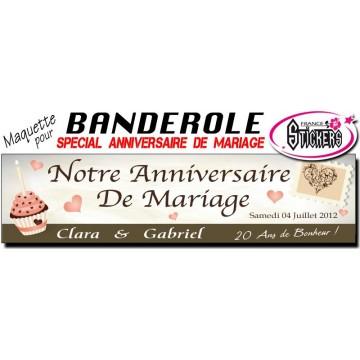 Banderole Anniversaire de Mariage Personnalisée (M0014FS2012)