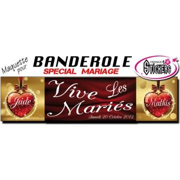 Banderole Mariage Personnalisée (M0015FS2012)