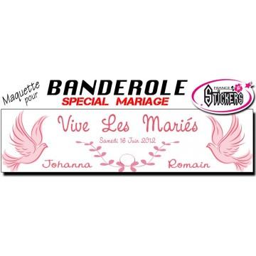 Banderole Mariage Personnalisée (M0017FS2012)
