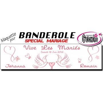 Banderole Mariage Personnalisée (M0018FS2012)