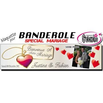 Banderole Mariage Personnalisée (M0019FS2012)