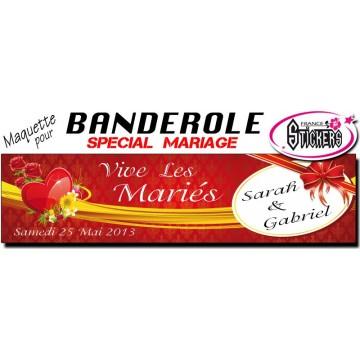 Banderole Mariage Personnalisée (M0020FS2012)