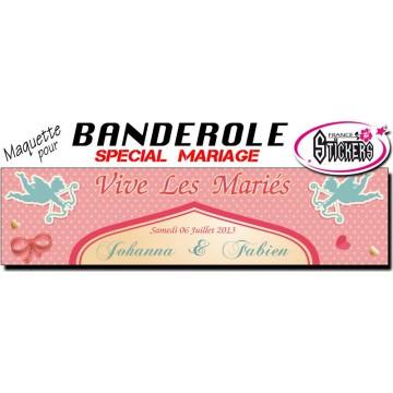 Banderole Mariage Personnalisée (M0021FS2012)